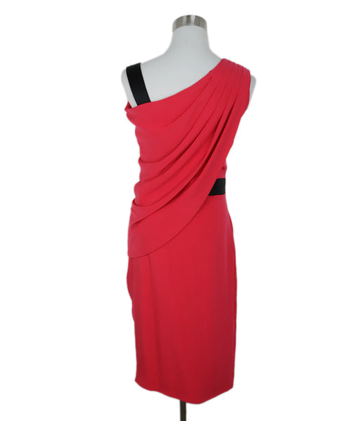 Kimora Lee Simons Pink Fuchsia Silk Dress with Mismatched Sleeves 3