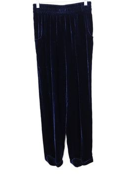 Kiton Blue Navy Velvet Pants