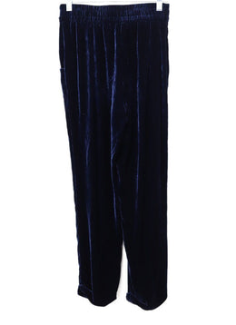 Kiton Blue Navy Velvet Pants 1