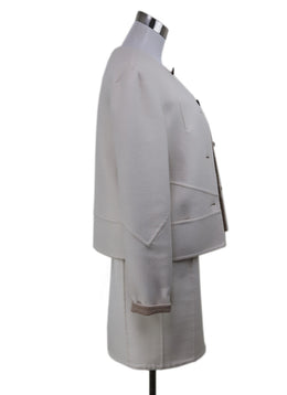 Kiton White Cashmere Dress and Jacket Set 1