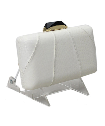 Kotur White Leather Clutch 1