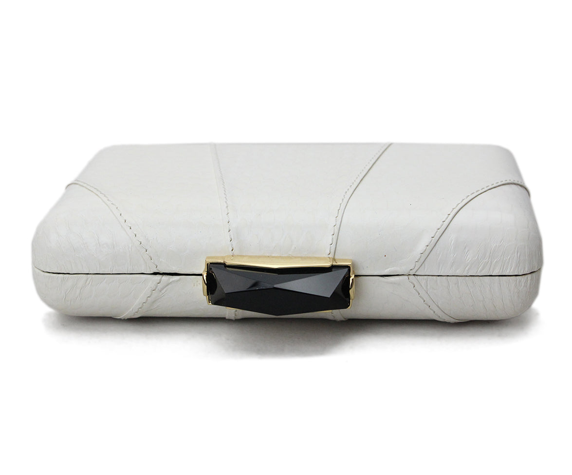 Kotur White Leather Clutch 5