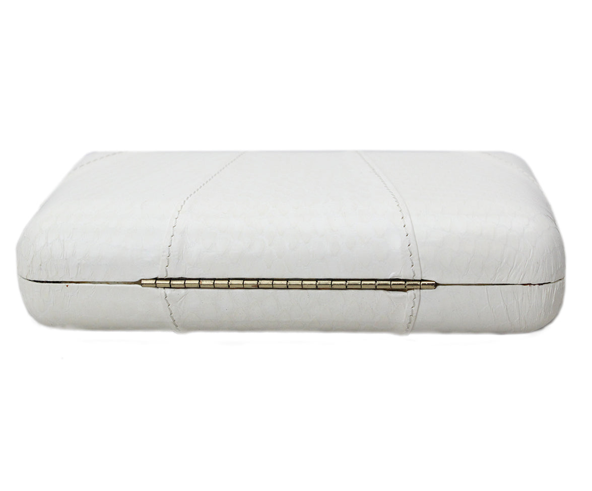 Kotur White Leather Clutch 4