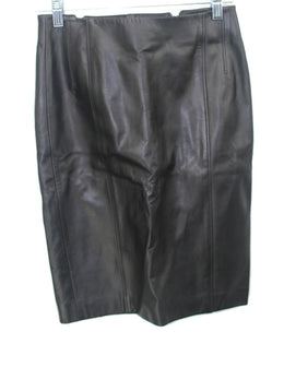 Long Kulson Black Leather Zipper Detail Skirt 1