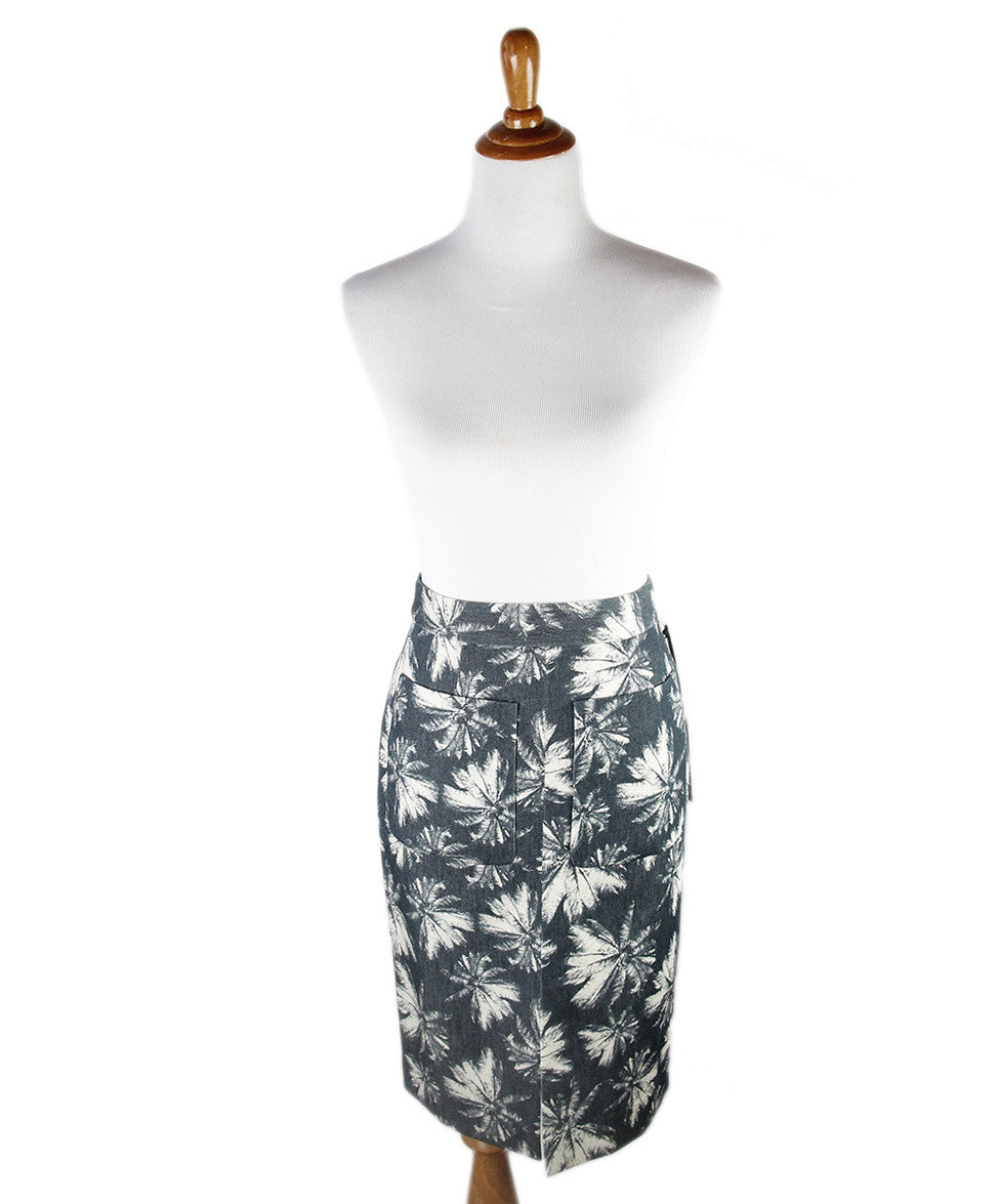 L'Agence Grey Beige Cotton Skirt Sz 6
