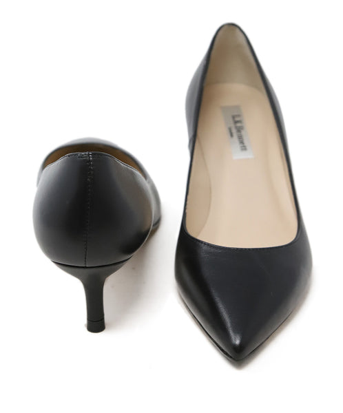 L.K Bennett Black Leather Heels 3