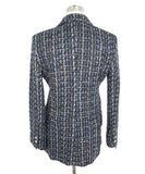 L'Agence Blue Black White Tweed Polyester Jacket 3