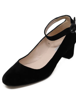 L.K Bennett Black Velvet Leather Shoes 1