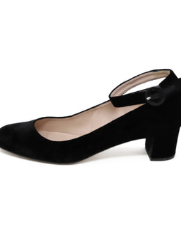 L.K Bennett Black Velvet Leather Shoes 2