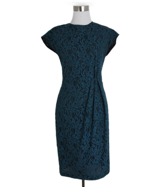 L'Wren Scott Blue Teal Lace Dress 1