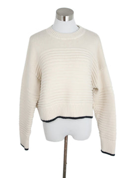 La Ligne Cream Knit Cotton Sweater 1
