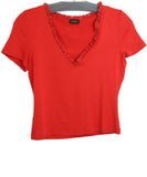 La Perla Red Cotton Lace Top 2