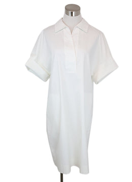 Lafayette White Cotton Dress 2