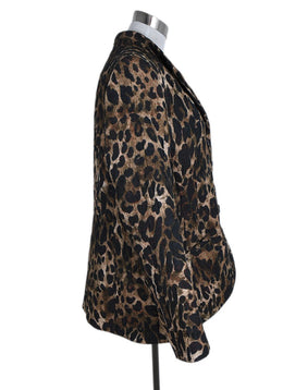 Lafayette 148 Brown Polyester Animal Print Jacket 2