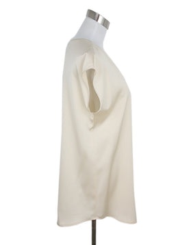 Lamberto Losani Cream Silk Blouse 2