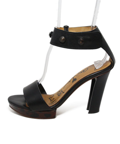 Lanvin Black Leather Sandals 1