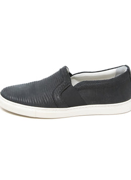 Lanvin Black Leather Slip on Sneakers 2