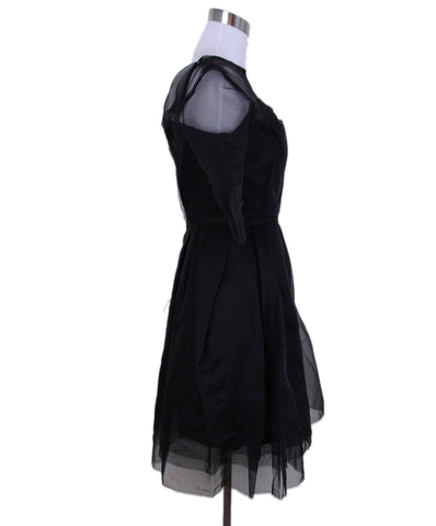 Lanvin Black Silk Dress 1