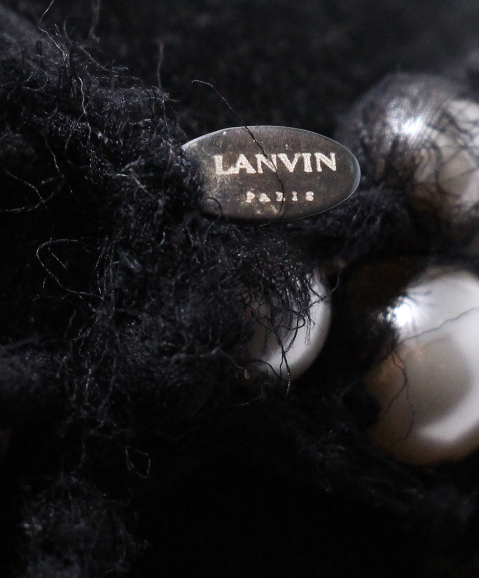 Lanvin Black White Beaded Grey Necklace 4