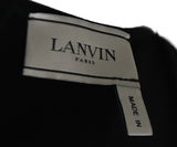 Lanvin Black Wool Faux Wrap Dress 4