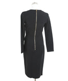 Lanvin Black Wool Faux Wrap Dress 3