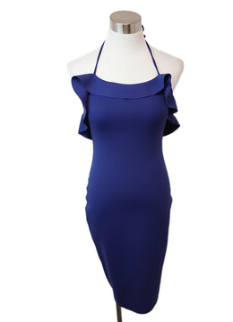 Lanvin Blue Royal Polyamide Elastane Dress 1