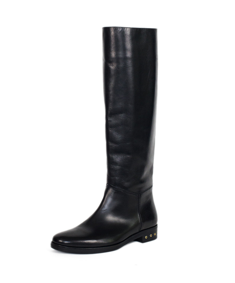 Lanvin Black Leather Boots Sz 36.5 - Michael's Consignment NYC  - 1