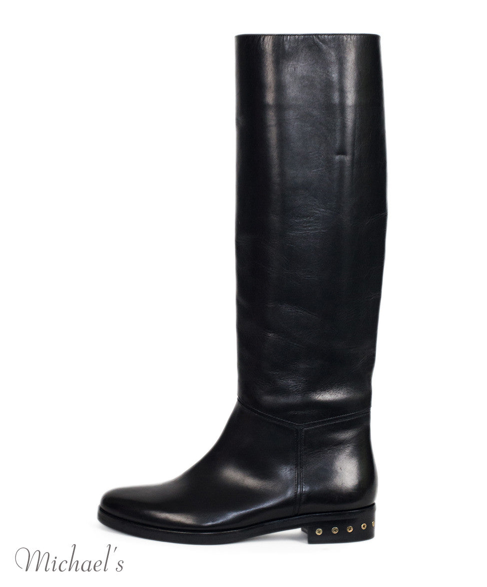 Lanvin Black Leather Boots Sz 36.5 - Michael's Consignment NYC  - 2