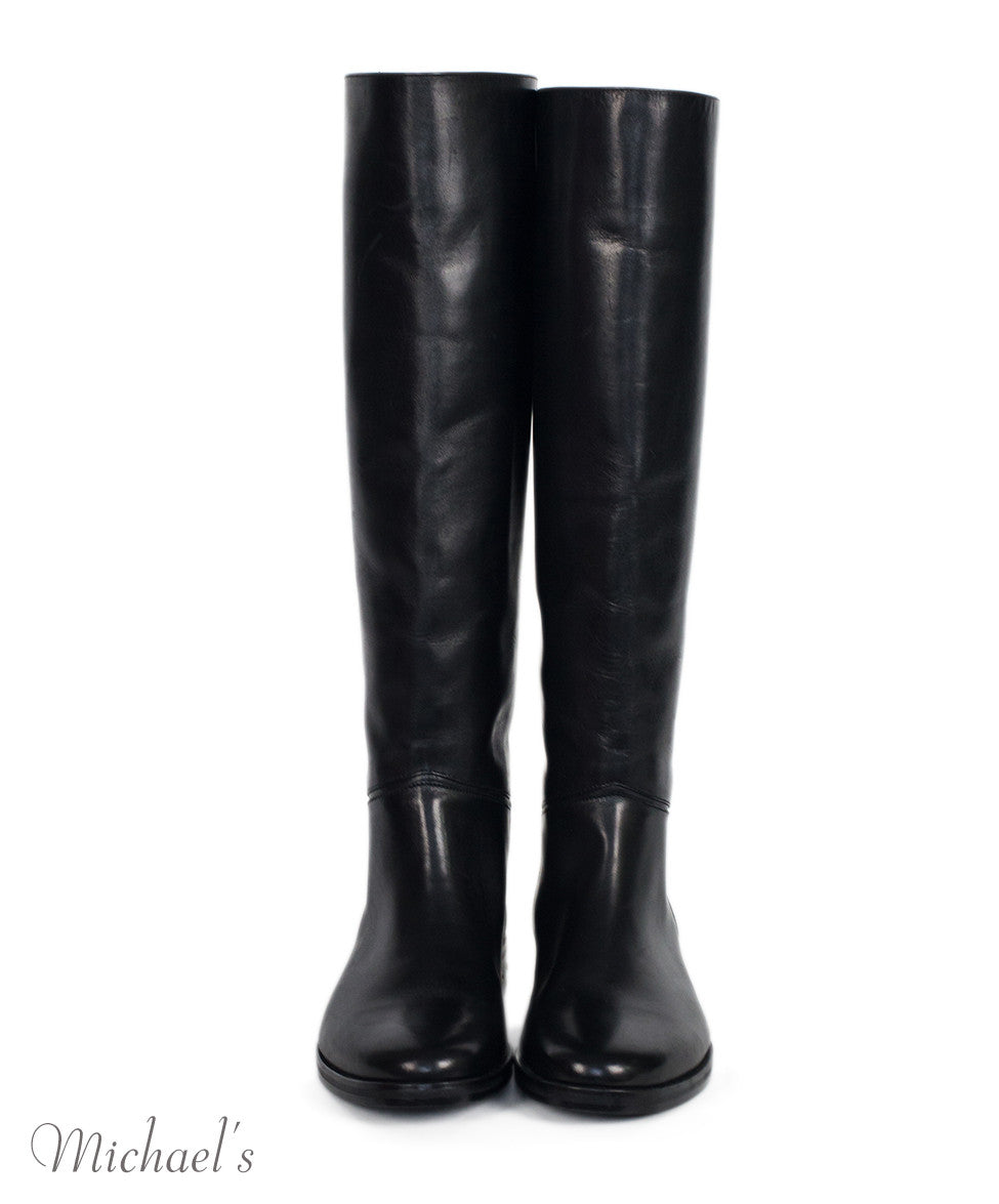 Lanvin Black Leather Boots Sz 36.5 - Michael's Consignment NYC  - 3