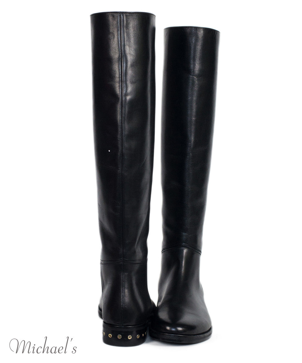 Lanvin Black Leather Boots Sz 36.5 - Michael's Consignment NYC  - 4