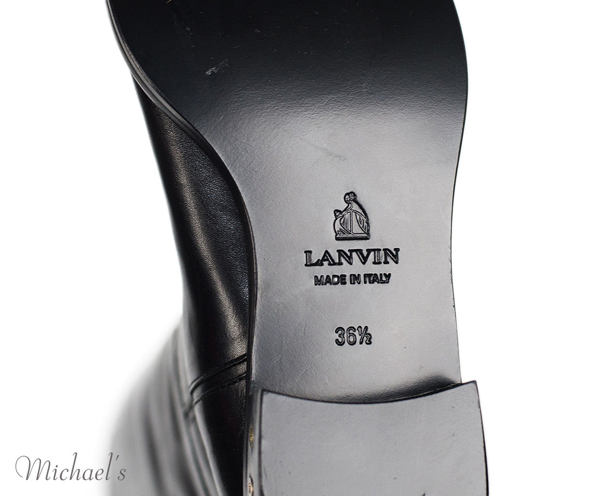 Lanvin Black Leather Boots Sz 36.5 - Michael's Consignment NYC  - 8