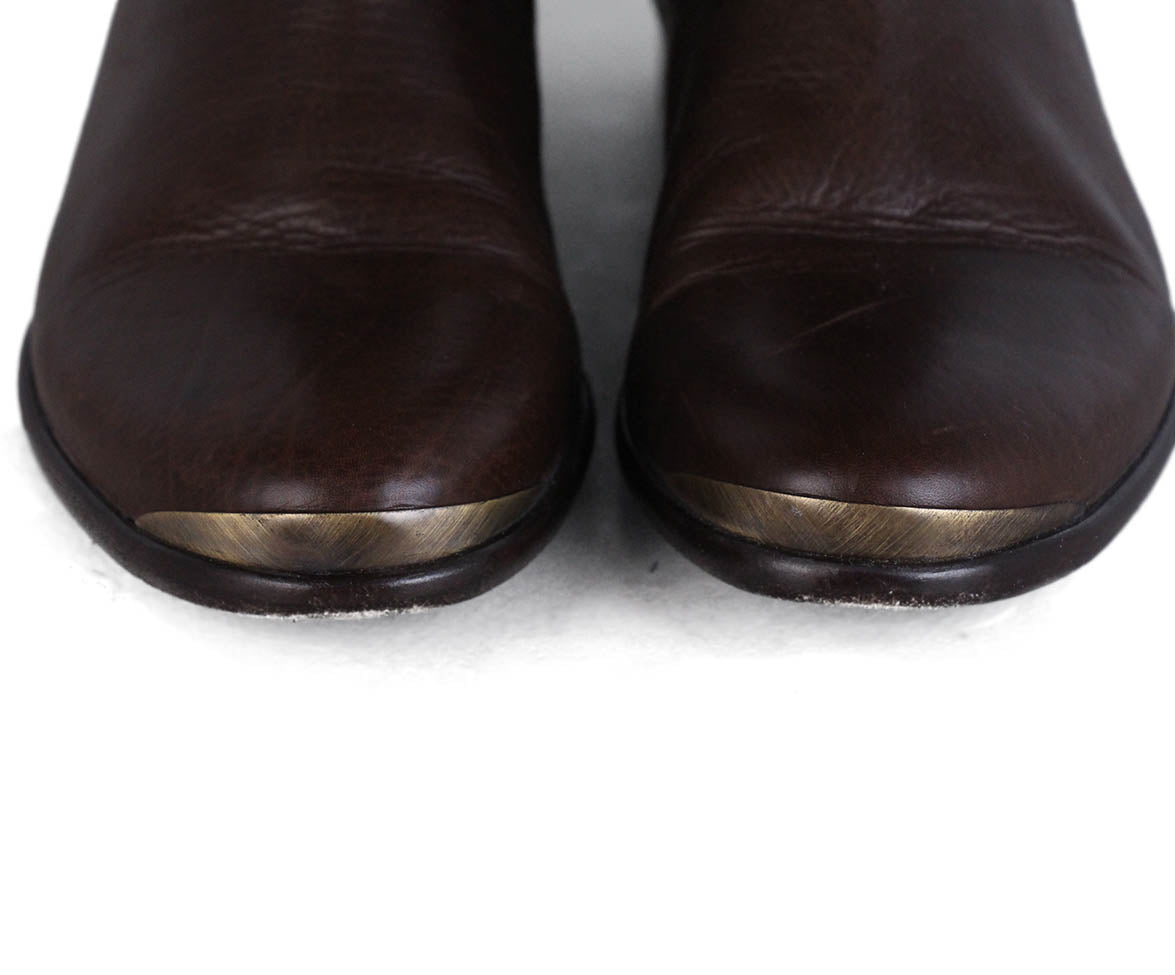 Lanvin Brown Leather Boots 7