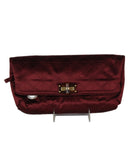 Lanvin Burgundy Silk Clutch 1