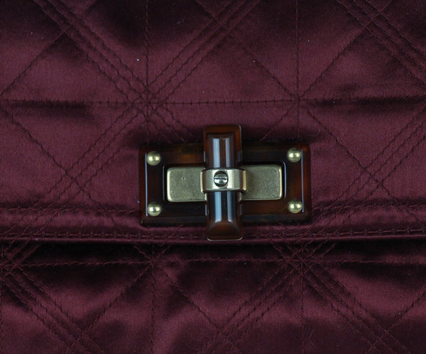Lanvin Burgundy Silk Clutch 7