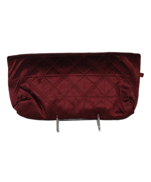 Lanvin Burgundy Silk Clutch 3