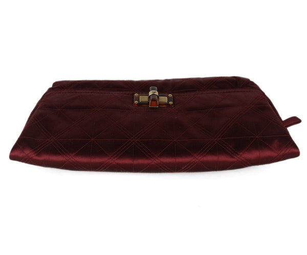 Lanvin Burgundy Silk Clutch 5