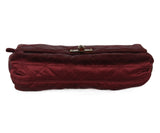 Lanvin Burgundy Silk Clutch 4