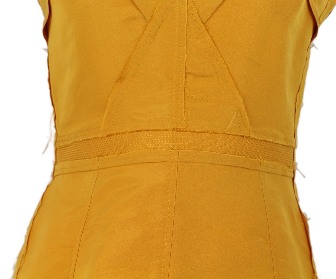 Lanvin Gold Silk Dress 6