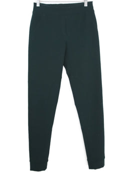 Lanvin Green Wool Elastane Leggings 1