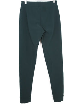 Lanvin Green Wool Elastane Leggings 2