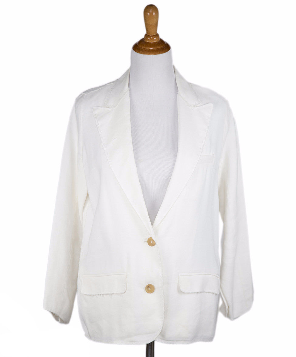 Lanvin Ivory Viscose Jacket Sz 6 - Michael's Consignment NYC  - 1