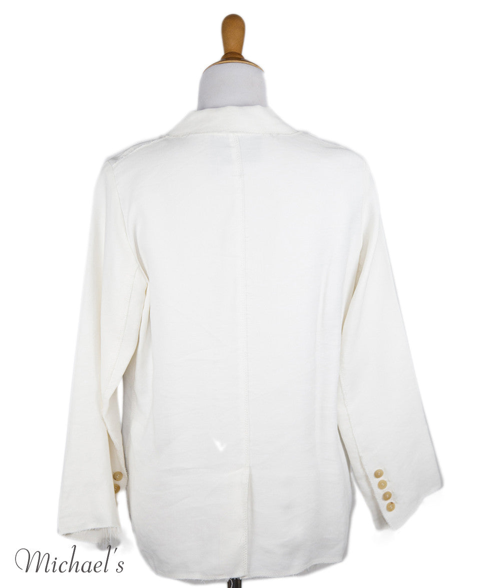 Lanvin Ivory Viscose Jacket Sz 6 - Michael's Consignment NYC  - 3