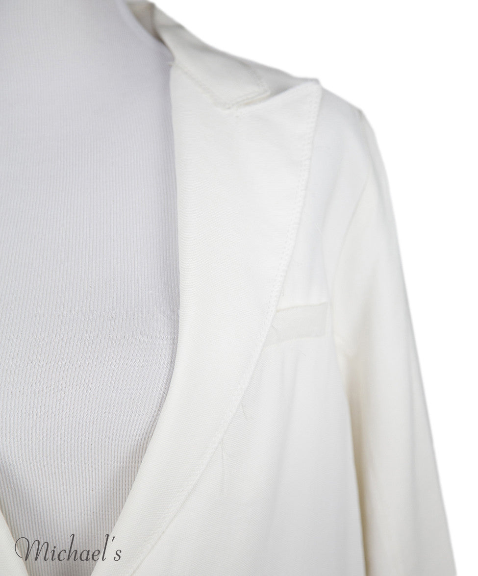 Lanvin Ivory Viscose Jacket Sz 6 - Michael's Consignment NYC  - 4