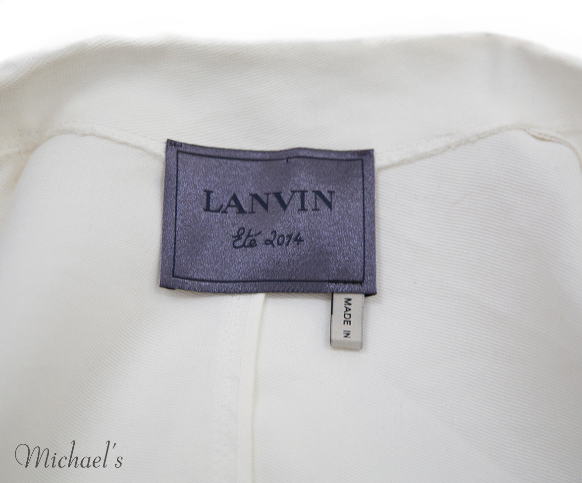 Lanvin Ivory Viscose Jacket Sz 6 - Michael's Consignment NYC  - 6