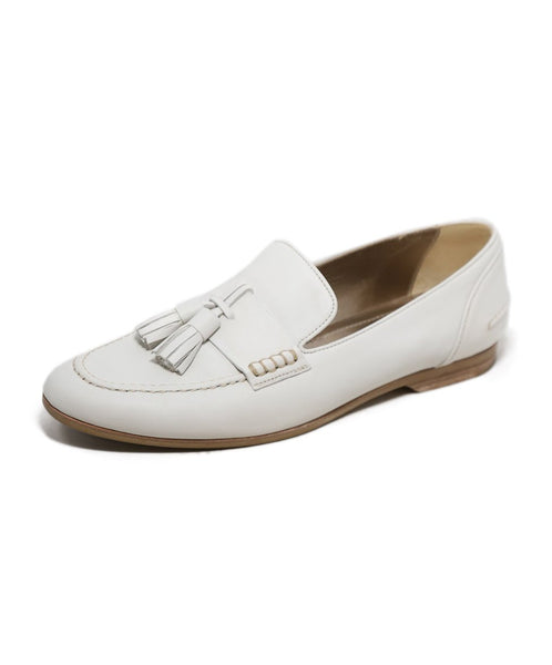 Lanvin White Leather Loafers 1