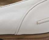 Lanvin White Leather Loafers 7