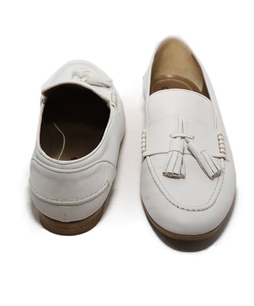 Lanvin White Leather Loafers 3