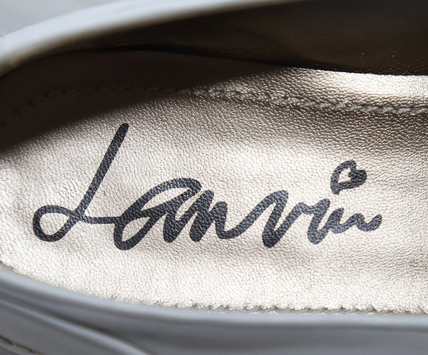 Lanvin White Leather Loafers 6