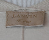 Lanvin Neutral Mauve Cotton Silk Polka Dots Sweater 4