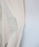 Lanvin Neutral Mauve Cotton Silk Polka Dots Sweater 5